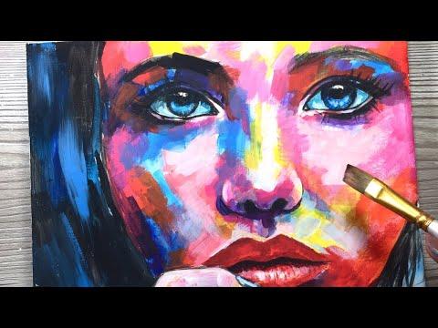 """""""REALISE"""" /  Painting / Colour Portrait"""