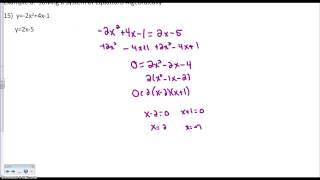 Solving a Quadratic/Linear System Algebraically