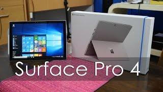 Microsoft Surface Pro 4 Unboxing & Overview (Retail Unit)