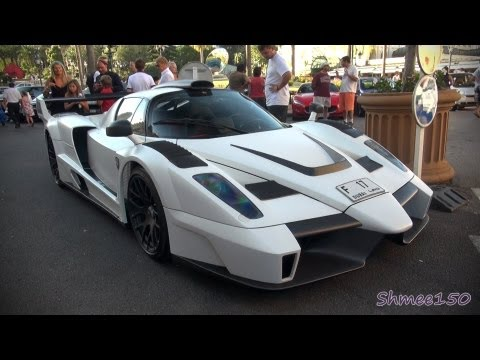 gemballa mig-u1 - startup and driving in monaco