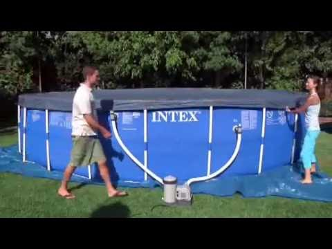 Intex Frame Pool Set Rondo Aufbau Video Deutsch