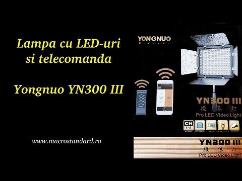 Prezentare Lampa LED Yongnuo YN300 III