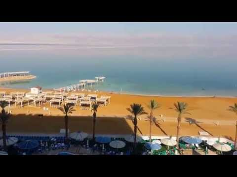 Crowne plaza dead sea. Вид с балкона. (видео)