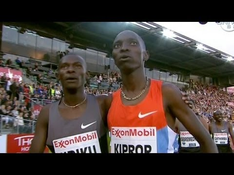 Asbel Kiprop wins Dream Mile at 2012 Oslo Bislett Diamond League