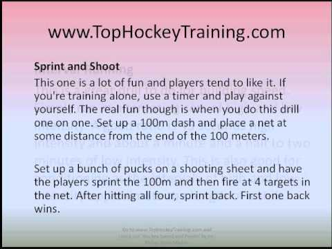 Hockey Drills – Off Ice Fitness Drills For Improving Skating Speed and Power