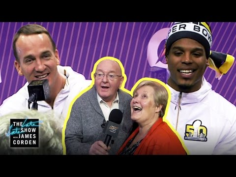 James Corden and Parents Invade Superbowl