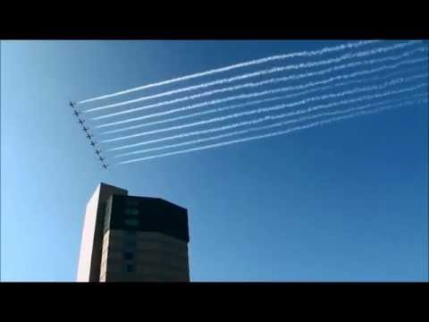 Snowbirds Flying Over Niagara Falls