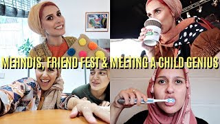 Video MY WEEK OF MEHNDIS, MEETING A CHILD GENIUS & FRIENDS FEST! MP3, 3GP, MP4, WEBM, AVI, FLV Januari 2018