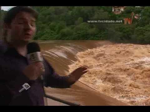 Nível do Rio do Peixe deixa empresa em estado de alerta em Luzerna- Matéria Cidade Notícias