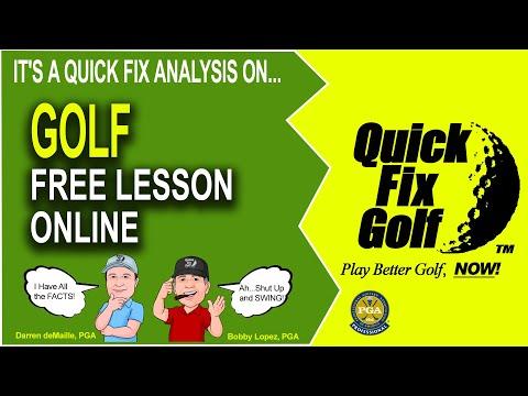 Sample Golf Lesson Online Video Analysis