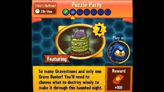 Puzzle Party !!! Daily Event 17 Th Jan 2018 Plants Vs Zombies Heroes