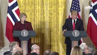 Video President Trump Holds a Joint Press Conference with Prime Minister Solberg MP3, 3GP, MP4, WEBM, AVI, FLV Januari 2018