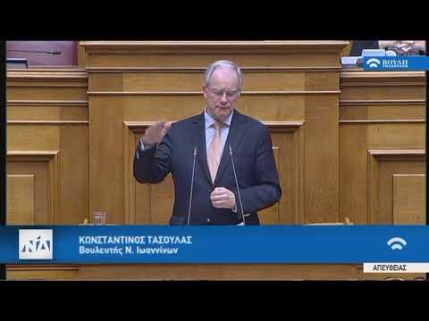 Κ.Τασούλας(Εισηγητής ΝΔ) (Αναθεώρηση Συντάγματος)(12/02/2019)
