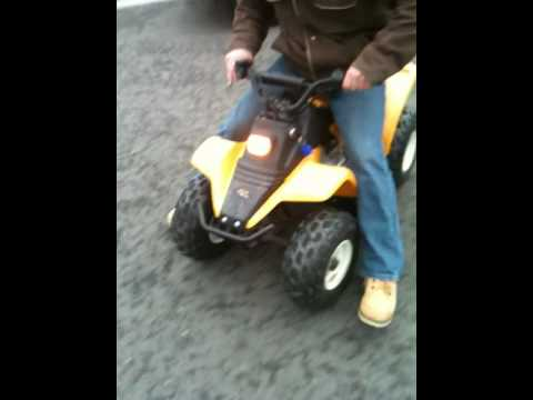 Lil Travis trick riding my son's 49cc Kazuma quad – Easter 2010