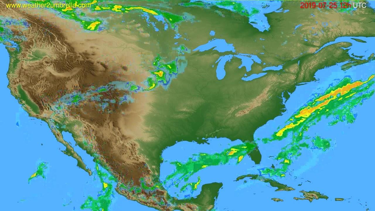 Radar forecast USA & Canada // modelrun: 00h UTC 2019-07-25