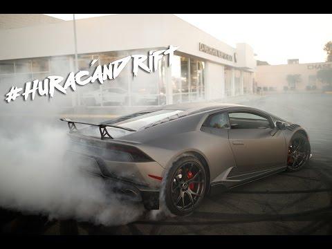 Watch A Husband And Wife Team Drift Their Brand New Huracan At A Lamborghini Dealership