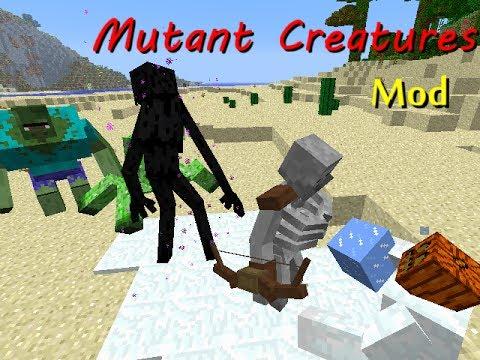 【Minecraft】ミュータントクリーチャーMod 紹介&実戦!【Mod紹介】