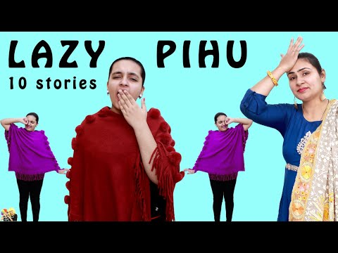 LAZY PIHU Funny Types of Girls  Lazy People   Aayu and Pihu Show
