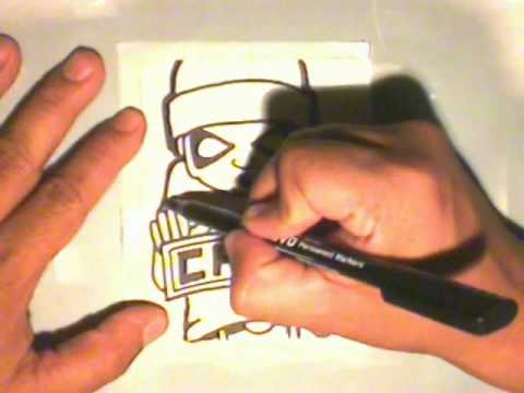 making a graffiti sticker for (CHAZ)  by WIZARD