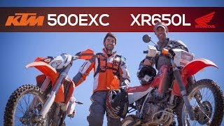 1. KTM 500EXC and Honda XR650L - MotoGeo Review