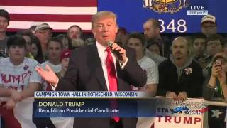 Rothschild (WI) United States  city photo : Donald Trump Town Hall Meeting in Rothschild Wisconsin