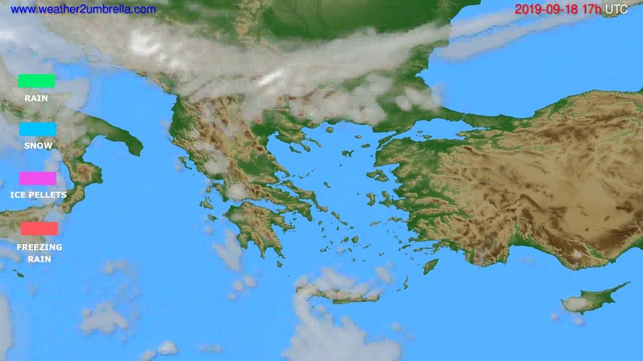 Precipitation forecast Greece // modelrun: 00h UTC 2019-09-17