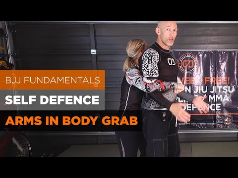 2 ways to defend a person grabbing you from behind, Bear Hug. BJJ Fundamentals