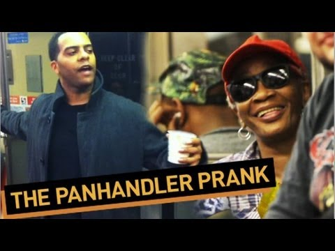 Pandhandler Pranks Entire Subway Car