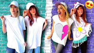 Video Clever Ways To Customize Your T-Shirts and More! DIY Life Hacks, Craft Ideas & Hair Hacks! MP3, 3GP, MP4, WEBM, AVI, FLV September 2018