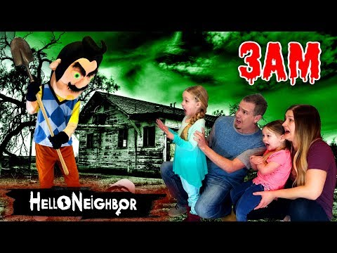HELLO NEIGHBOR In Real Life At 3AM!!! Hello Neighbor In The Dark *OMG* So Creepy! Part 3