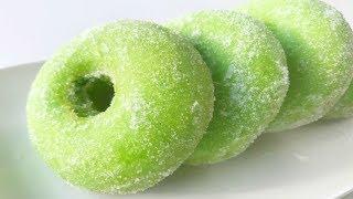 Resepi Donat Pandan Gebu | Pandan Donuts / Doughnuts Recipe