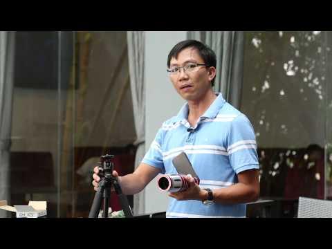 Trên tay ống kính super tele 50x cho điện thoại