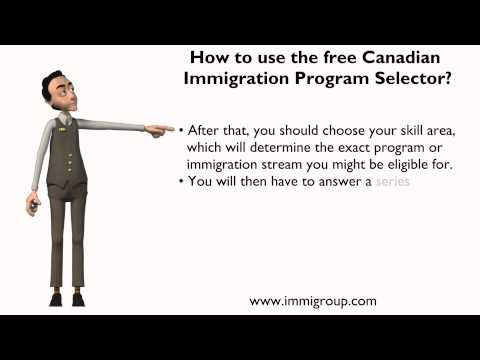 How to use the free Canadian Immigration Program Selector?
