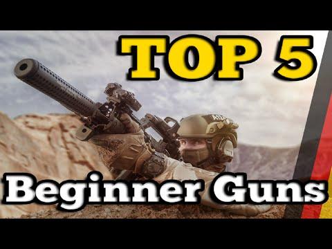 TOP 5 AIRSOFT Anfänger- & Einsteigerwaffen [DE/4K]