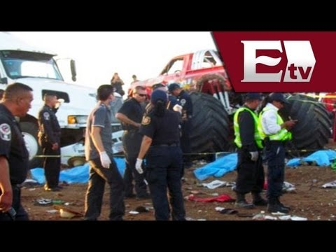 Monster truck: Tragedia en Aeroshow de Chihuahua (VIDEO) / Monster truck accident
