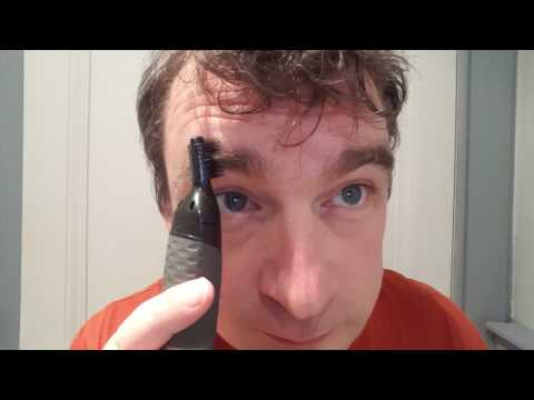 Review and demo of Philips NT3160/10 Nose, Ear and Eyebrow Trimmer