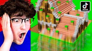 I Tested VIRAL MINECRAFT TIKTOK BUILDING HACKS! (INSANE)