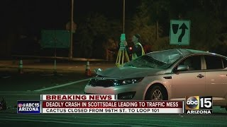 One killed, one hurt in crash between car and motorcycle in Scottsdale