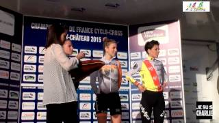 Pontchateau France  City new picture : Championnat de France cyclo cross Pontchâteau 2015 Cat Dames