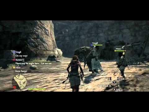 Dragon's Dogma - Gameplay face au Golem
