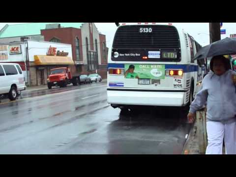 b46 - Note these were two separate videos combined as one! Video #1: DeKalb Avenue bound #5130 B46 Limited RTS NovaBus bus arrives @ the bus stop to drop off/pick...