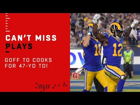 Video: GOFF IS COOKIN!!! 47-Yd TD Bomb from Goff to Cooks