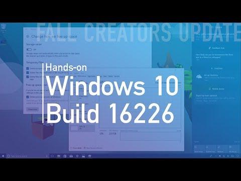 Windows 10 build 16226: Hands-on with Fluent Design, Shell, Microsoft Edge, Settings (видео)