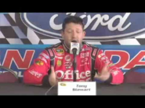 Tony Stewart Funny Interview Compilation PART 1