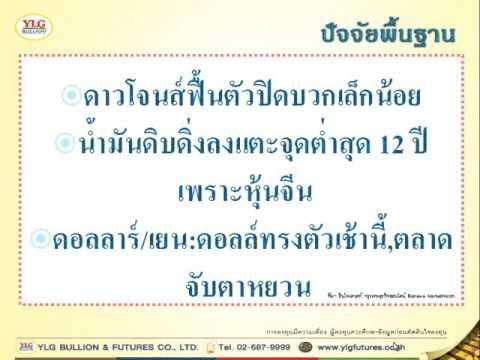YLG บทวิเคราะห์ราคาทองคำประจำวัน 12-01-16