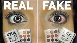 $6 KYLIE JENNER KYSHADOW PALETTE | REAL VS FAKE | I ALMOST LOST MY EYE!