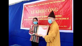 Lễ Khởi công xây nhà cho hộ cận nghèo tại phường Phương Đông