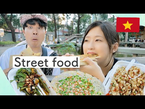【Street food】Người Nhật lần đầu tiên ăn đồ đường phố tại Hồ Con Rùa | ft.Vietnam-kun - Thời lượng: 8:38.