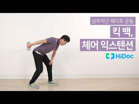 삼두박근 웨이트 운동 -킥 백, 체어 익스텐션