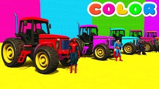 Learn Color Tractors Cars For Kids w Spiderman Cartoon Full EpisodesLearn Colors w Magic Balls for Kids - Foot Painting Finger Familyhttps://youtu.be/oUrXRbej1KALEARN COLORS w Police Cars on Bus & Spiderman Cartoon for kidshttps://youtu.be/A-C1itC_t2ECOLORS for Children with BUS & Spiderman Superherohttps://youtu.be/w-M-sACpdM4LEARN COLORS Cars Sport RACEhttps://youtu.be/wgtAXIJdizILearn Colors for Kids Motorcycleshttps://youtu.be/5bKACUCDMWY